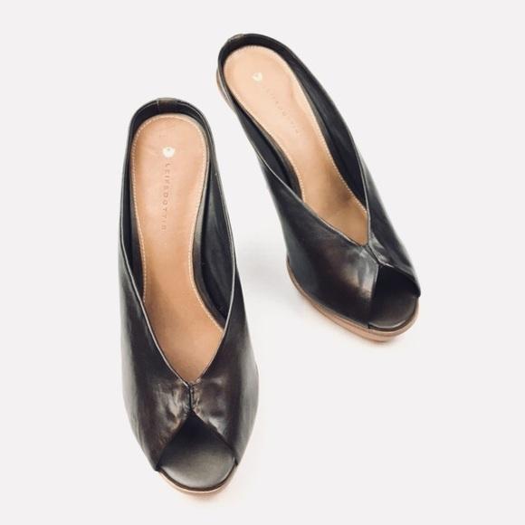 929d86a6863 Leifsdottir Inga peep toe heels in brown